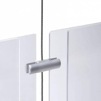 Podwójny boczny uchwyt na panel do 4 mm