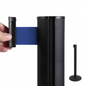 System odgradzający/czarny słupek/niebieski 2,7 m pas