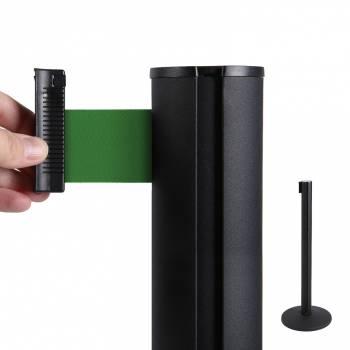 System odgradzający/czarny słupek/zielony 2,7 m pas