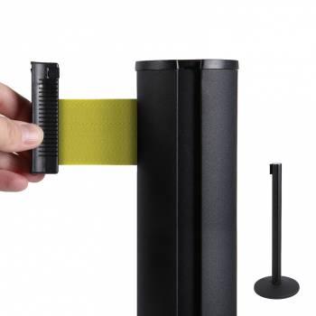 System odgradzający/czarny słupek/żółty 2,7 m pas