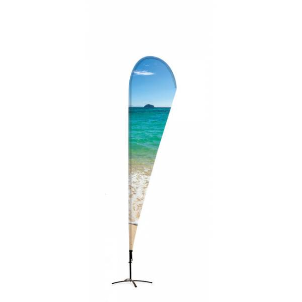Beachflag Alu Drop 400cm Total Height