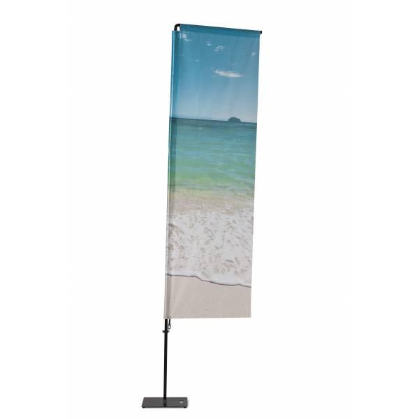 Beachflag Alu Square 240cm Total Height Luxurious