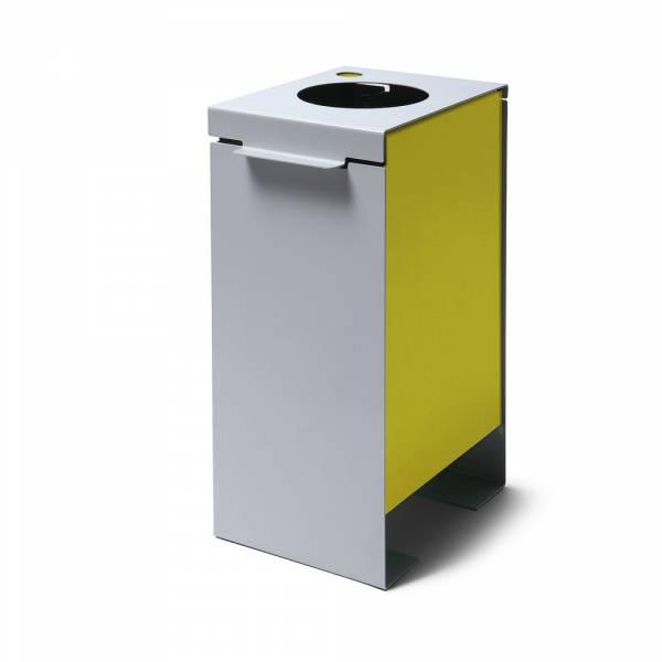 Kosz na śmieci, żółty