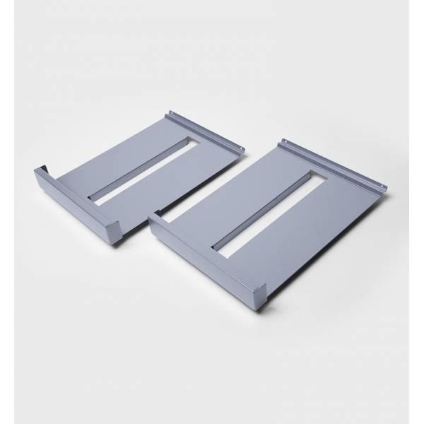 Zestaw metalowych półek