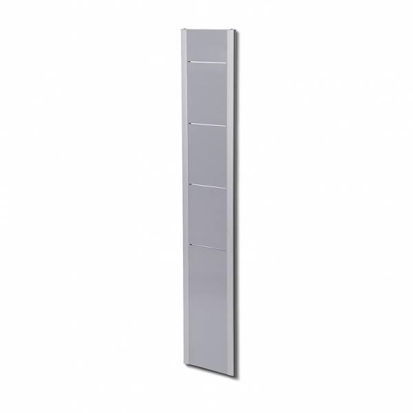 Naścienny stojak na ulotki BRW / srebrny