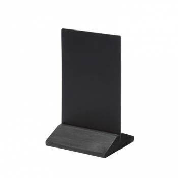 Drewniany ekonomiczny stojak na menu 100 mm / czarny