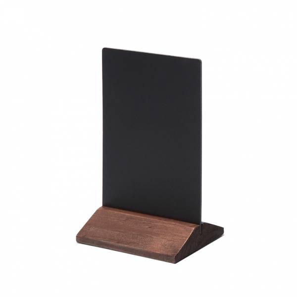 Drewniany ekonomiczny stojak na menu 100 mm / ciemny brąz