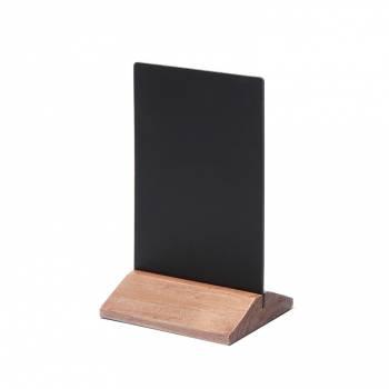 Drewniany ekonomiczny stojak na menu 100 mm / jasny brąz
