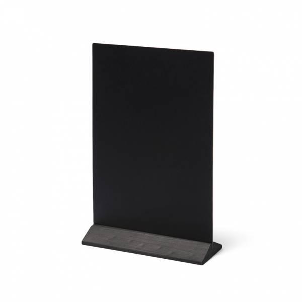 Drewniany ekonomiczny stojak na menu 210 mm / czarny