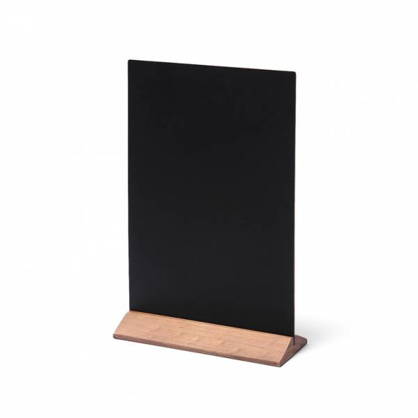 Drewniany ekonomiczny stojak na menu 210 mm / jasny brąz