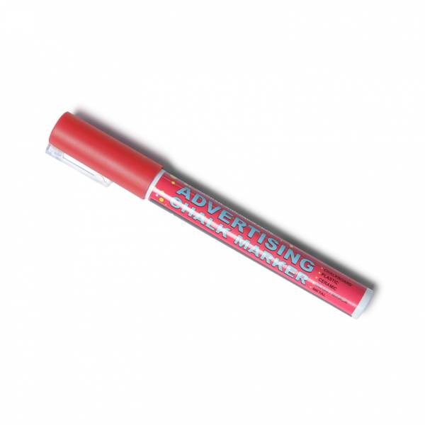 Marker kredowy 3 mm - czerwony