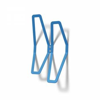 Naścienny wieszak DESIGN, niebieski