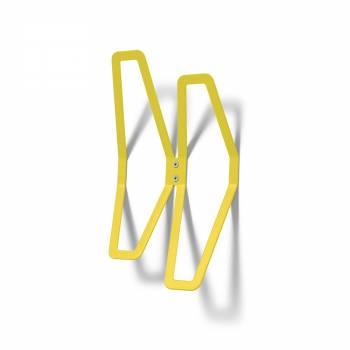 Naścienny wieszak DESIGN, żółty