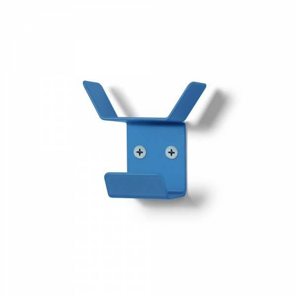 Wieszak naścienny Mini, potrójny, niebieski