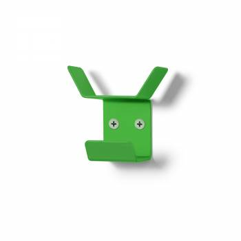 Wieszak naścienny Mini, potrójny, zielony