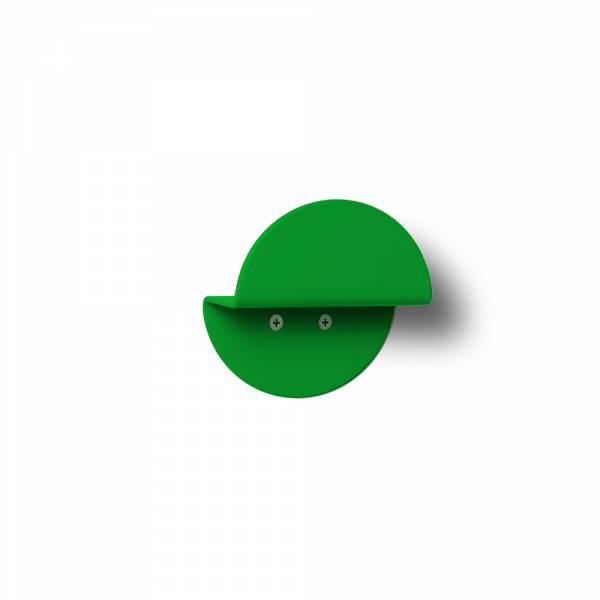Okrągły wieszak naścienny, zielony