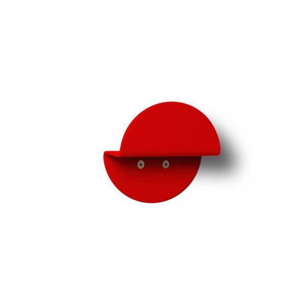Okrągły wieszak naścienny, czerwony