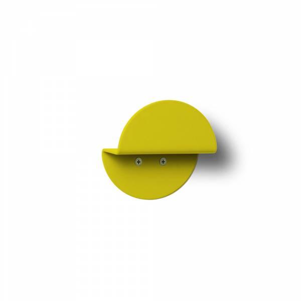 Okrągły wieszak naścienny, żółty