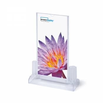 SCRITTO Plastikowy stojak na menu 100x200mm na akcesoria