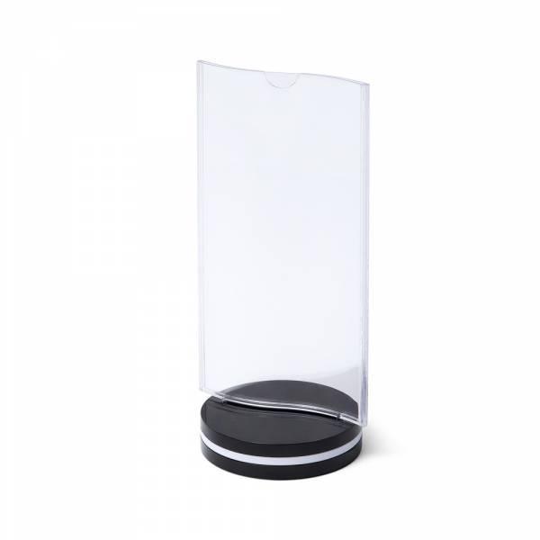 SCRITTO Plastikowy stojak na menu 100x200mm, wygięty