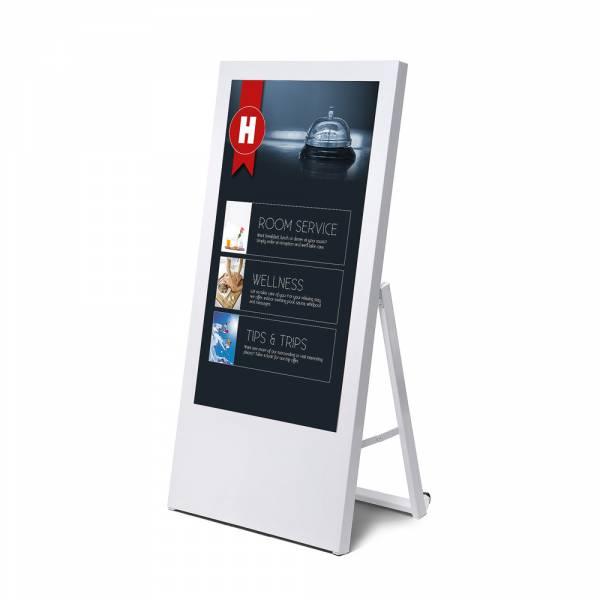 """Stojak z monitorem 43"""" - biały - DSIBDAEC43PC9003ESF"""