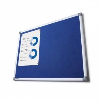 Tablica tekstylna SCRITTO 90x180cm Niebieska