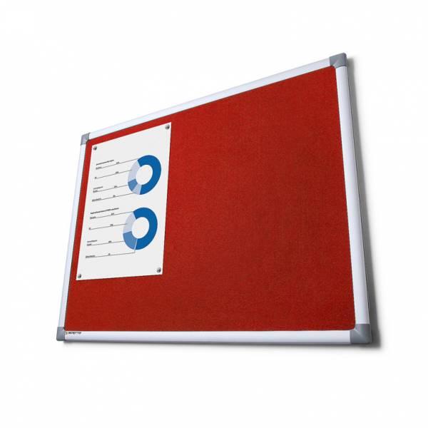 Tablica tekstylna SCRITTO 100x150cm Czerwona