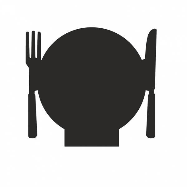 """Czarny panel w kształcie """"Restauracja"""" 100mm"""