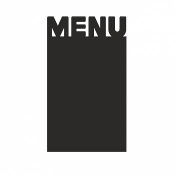 Czarny panel w kształcie