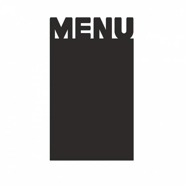 """Czarny panel w kształcie """"Menu"""" 210mm"""