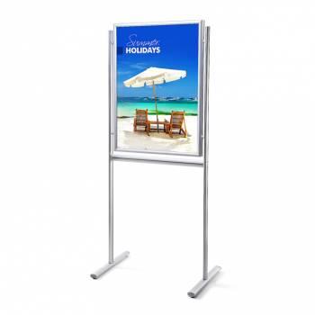 Infoboard 70x100 dwustronny , narożniki ostre, profil 25 mm