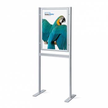 Infoboard A1 , narożniki ostre, profil 37 mm