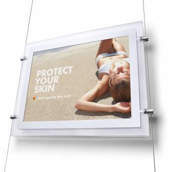 Podświetlany panel A4 z mocowaniem bocznym, pionowe