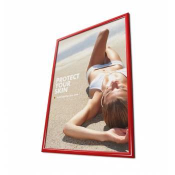 Rama zatrzaskowa 50x70 cm - czerwona