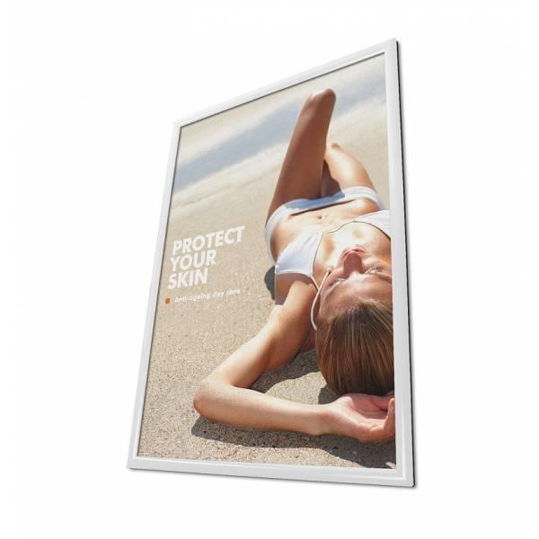 Rama zatrzaskowa 70x100 cm - biała