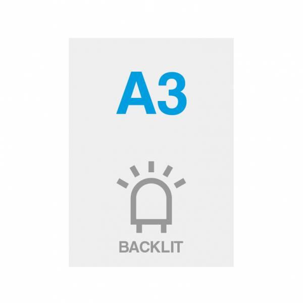 Wydruk Premium backlit 200g/m2, satynowa powierzchnia, 297x420mm