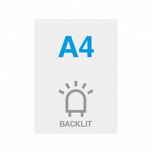 Wydruk Premium backlit 200g/m2, satynowa powierzchnia, 210x297mm