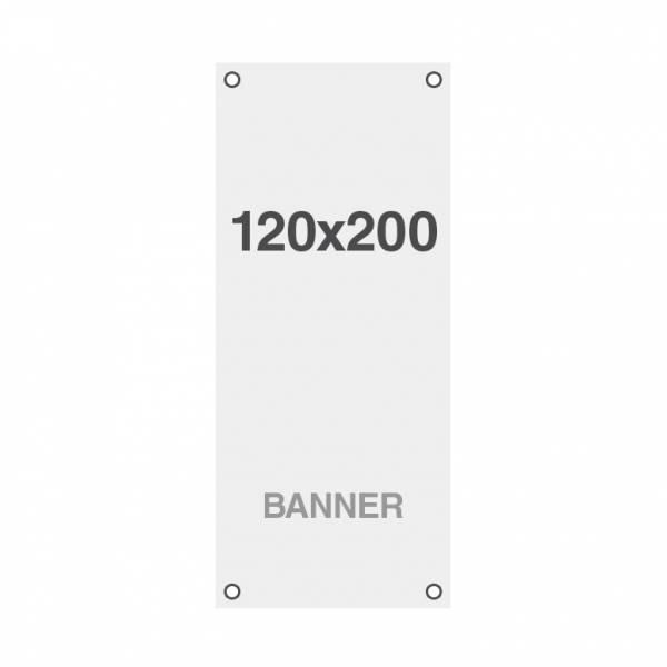 Wydruk bannerowy Symbio 510 g / m2, 1200x2000mm, wszyte otwory w narożnikach