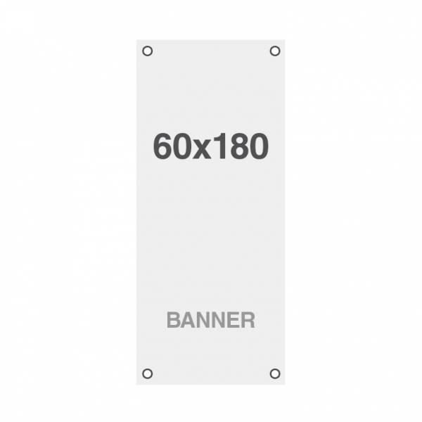 Banner Premium No Curl 220 g / m2, wykończenie matowe, 60x180cm, wszyte otwory w narożnikach