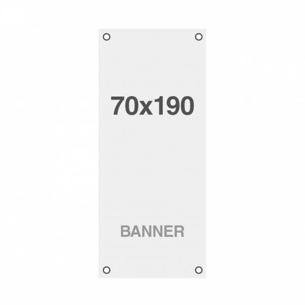Wydruk bannerowy Symbio 510 g / m2, 700x1900mm, wszyte otwory w narożnikach