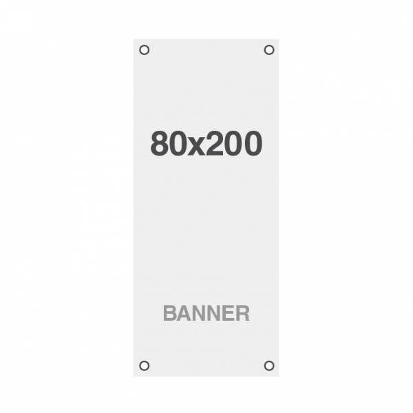 Wydruk bannerowy Symbio 510 g / m2, 800x2000mm, wszyte otwory w narożnikach