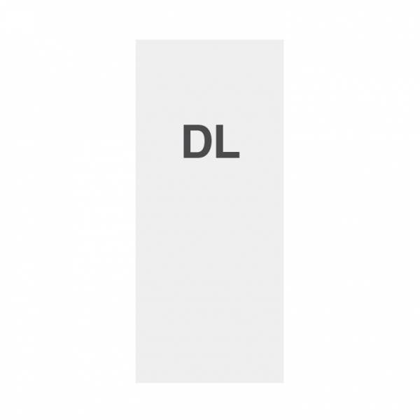 Wysokiej jakości wydruk na papierze 135g/m2, satynowa powierzchnia, DL (99x210mm)