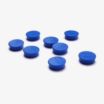 Zestaw 8 niebieskich magnesów o średnicy 20 mm