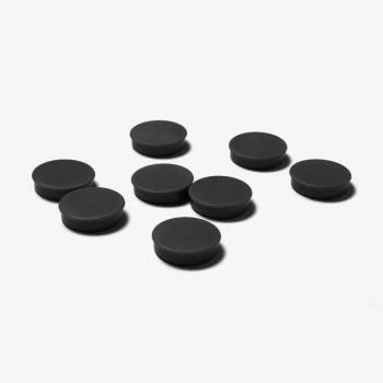 Zestaw 8 czarnych magnesów o średnicy 35 mm
