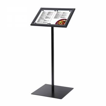 Zamykany stojak na menu w kolorze czarnym /LED