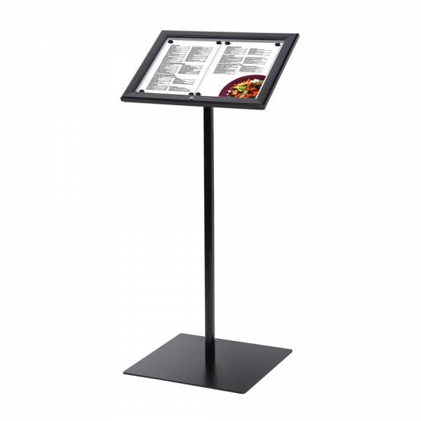 Zamykany stojak na menu w kolorze czarnym  2xA4,