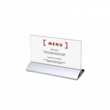 Stojak informacyjny z aluminiową podstawą DL (1/3A4) poziomy
