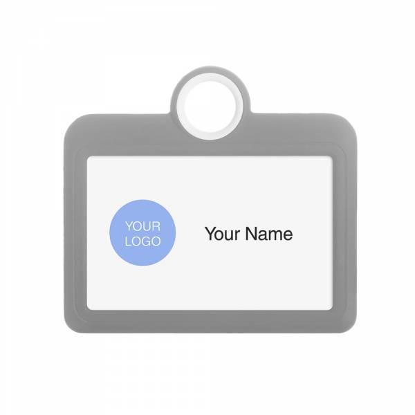 Kolorowy identyfikator - wersja pozioma - szary