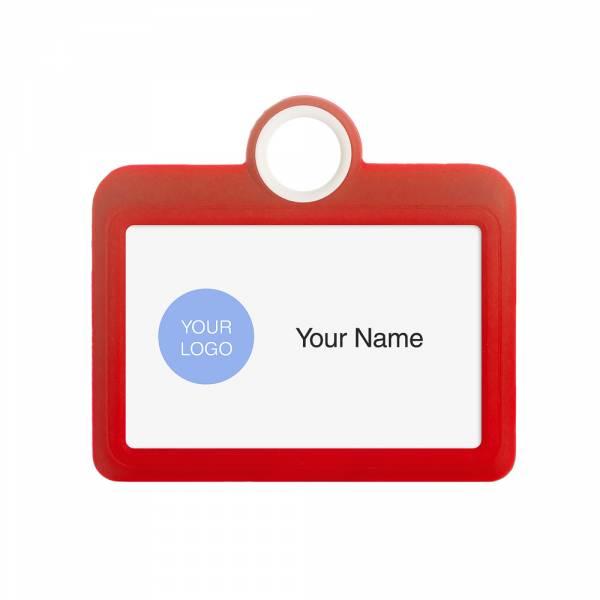 Kolorowy identyfikator - wersja pozioma - czerwony