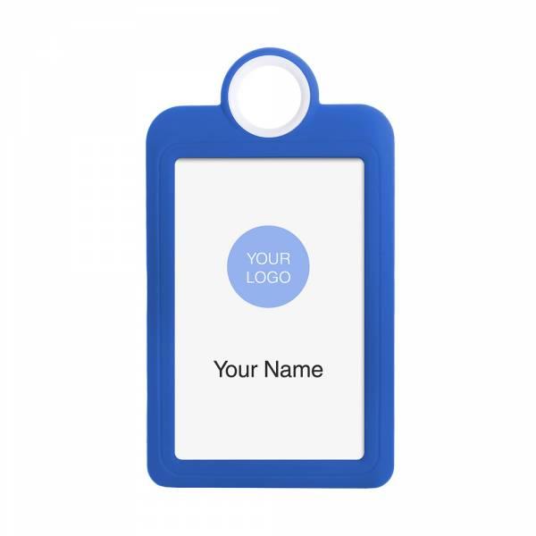 Kolorowy identyfikator - wersja pionowa - niebieski